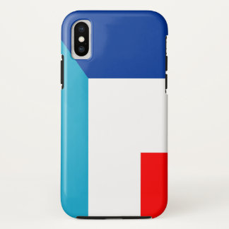 Capa Para iPhone X france luxembourg embandeira o meio símbolo do