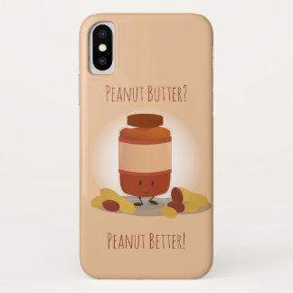 Capa Para iPhone X Frasco bonito | da manteiga de amendoim
