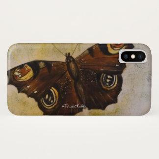Capa Para iPhone X Frida Kahlo pintou a borboleta