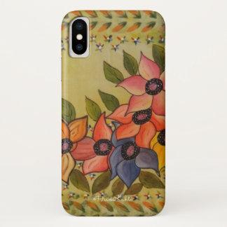 Capa Para iPhone X Frida Kahlo pintou Flores