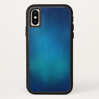 Capa Para iPhone X Fulgor subaquático azul profundo