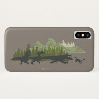 Capa Para iPhone X Funcionamento das silhuetas de Dino