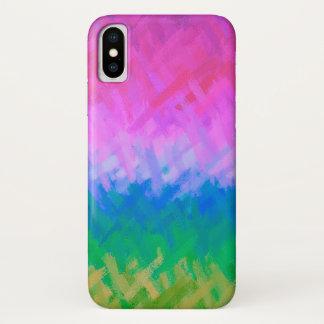 Capa Para iPhone X Fundo abstrato colorido Pastel #4