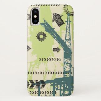 Capa Para iPhone X Fundo abstrato da olá!-tecnologia