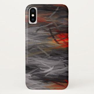 Capa Para iPhone X Fundo abstrato de pintura