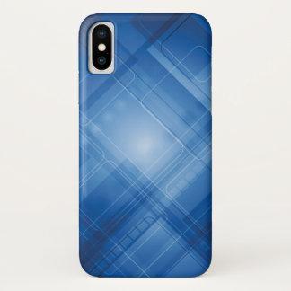 Capa Para iPhone X Fundo azul escuro da olá!-tecnologia