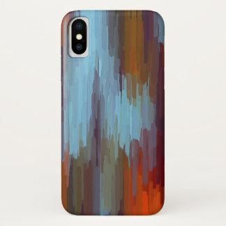 Capa Para iPhone X Fundo colorido #2 do abstrato da pintura