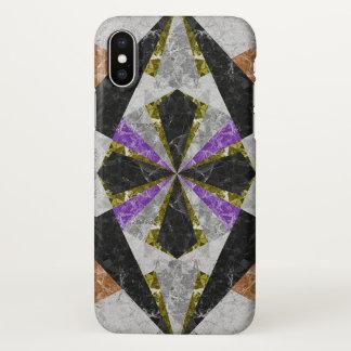 Capa Para iPhone X fundo geométrico de mármore G441 do caso do iPhone