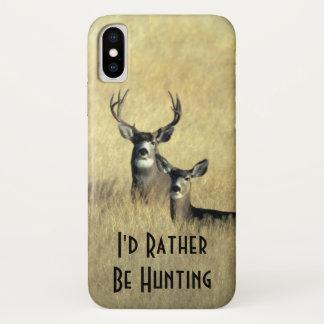 Capa Para iPhone X Gama masculino do fanfarrão dos cervos de mula da