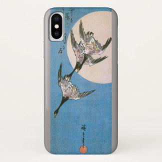 Capa Para iPhone X Gansos selvagens que voam para baixo através da