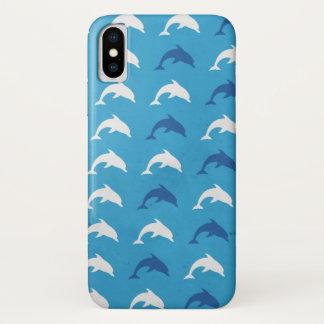 Capa Para iPhone X Golfinhos azuis