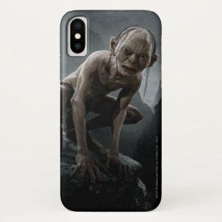 Capa Para iPhone X Gollum em uma rocha