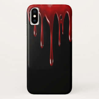Capa Para iPhone X Gotejamentos do sangue de Falln
