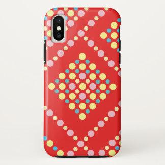Capa Para iPhone X Grade colorida do pop dos doces das bolinhas