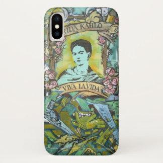 Capa Para iPhone X Grafites de Frida Kahlo