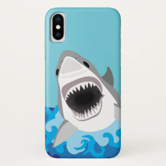 Capa Para iPhone X Grandes desenhos animados engraçados do tubarão