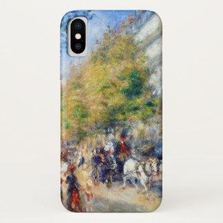 Capa Para iPhone X Grands Boulevards de Les por Renoir
