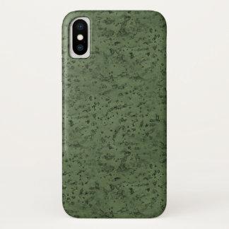 Capa Para iPhone X Grão da madeira do olhar da cortiça do verde
