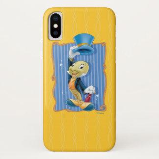 Capa Para iPhone X Grilo de Jiminy que levanta seu chapéu
