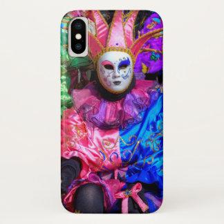 Capa Para iPhone X Grupo no traje do carnaval, Veneza