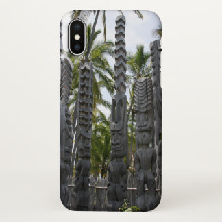 Capa Para iPhone X Guardiães de Tiki no lugar do refúgio