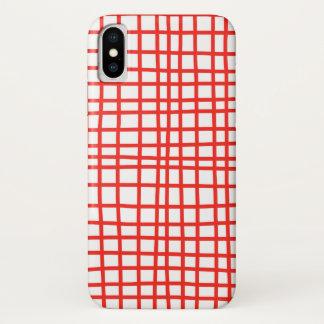 Capa Para iPhone X Guingão vermelho do caso Handmade