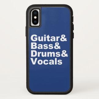 Capa Para iPhone X Guitar&Bass&Drums&Vocals (branco)