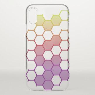 Capa Para iPhone X Hex da cor no branco
