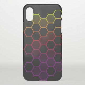 Capa Para iPhone X Hex da cor no preto