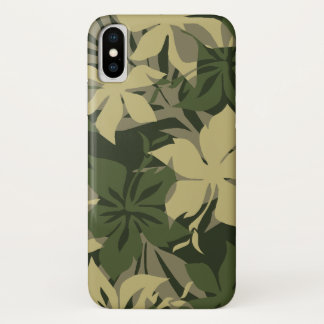 Capa Para iPhone X Hibiscus do Hawaiian de Kaanapali Camo