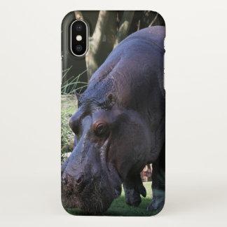 Capa Para iPhone X Hipopótamo AJ17