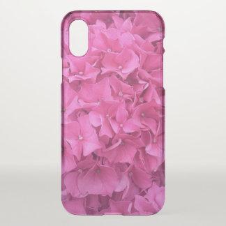 Capa Para iPhone X Hydrangea cor-de-rosa brilhante