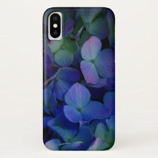 Capa Para iPhone X Hydrangeas roxos violetas