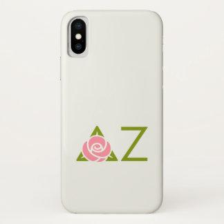 Capa Para iPhone X Ícone cor-de-rosa do Zeta do delta