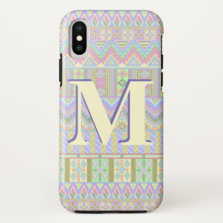 Capa Para iPhone X ifonX asteca do monograma dos Pastels de Boho do