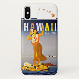 Capa Para iPhone X Ilhas havaianas da arte de Havaí Hula do vintage