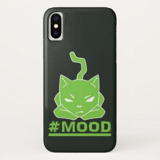 Capa Para iPhone X Ilustração do logotipo do limão do gato do #MOOD