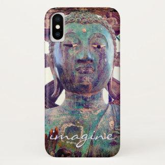 """Capa Para iPhone X """"Imagine"""" a foto asiática da cabeça da estátua de"""