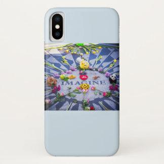 Capa Para iPhone X Imagine Strawberry Fields NYC