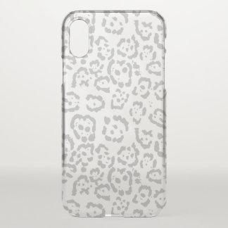 Capa Para iPhone X Impressão animal cinzento do gato de leopardo da