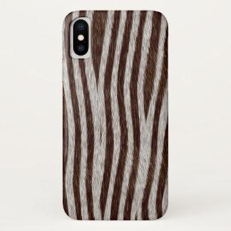 Capa Para iPhone X Impressão animal das listras exóticas da zebra da