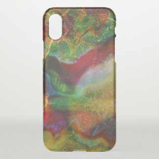Capa Para iPhone X Impressão da pedra da ágata dos tons da terra