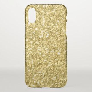 Capa Para iPhone X Impressão da textura do brilho do ouro