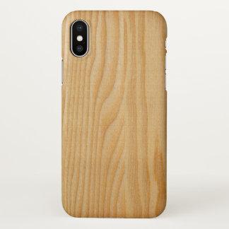 Capa Para iPhone X impressão de madeira de madeira das texturas da