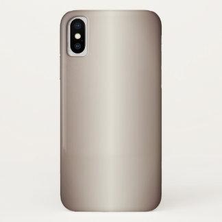 Capa Para iPhone X Inclinação do Taupe