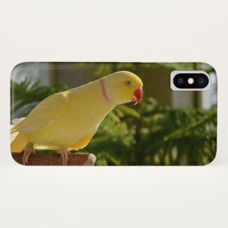 Capa Para iPhone X Indiano alerta Ringneck de Lutino