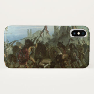 Capa Para iPhone X Indianos do vintage, dança do bisonte por Karl