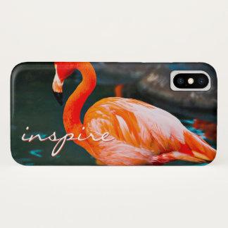 "Capa Para iPhone X ""Inspire"" as citações bonitos, foto alaranjada"