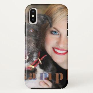 Capa Para iPhone X iPhone resistente X do retrato feito sob encomenda