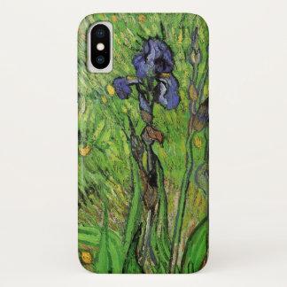 Capa Para iPhone X Íris de Van Gogh, flores das belas artes do jardim